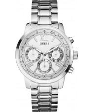 Guess W0330L3 Ladies zonsopgang zilveren stalen armband horloge