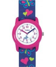 Timex T89001 Kids vlinders harten elastische stof band horloge