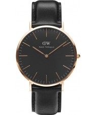 Daniel Wellington DW00100127 Klassiek zwart Sheffield 40mm horloge