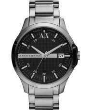 Armani Exchange AX2103 Mannen zwarte zilveren armband jurk horloge