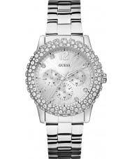 Guess W0335L1 Ladies dazzler zilveren stalen armband horloge