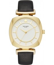 Kate Spade New York KSW1224 Ladies tv kast zwart lederen band horloge