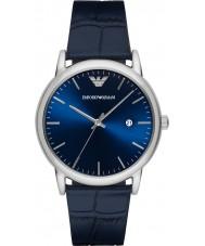 Emporio Armani AR2501 Mens klassieke blauwe lederen band horloge