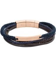 Fossil JF02379791 Mens vintage ongedwongen bruin en marine gelaagde armband