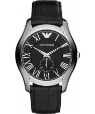 Emporio Armani AR1703 Mens klassieke zwarte lederen band horloge