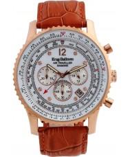 Krug-Baumen 600701DS Mens luchtreiziger diamanten horloge