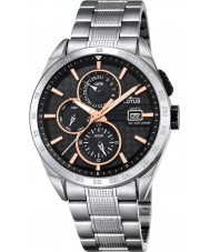 Lotus L18244-7 Mens zilveren multifunctioneel horloge