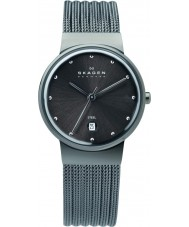 Skagen 355SMM1 Ladies klassik houtskool staalnetwerk horloge