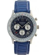 Krug-Baumen 400507DS Luchtreiziger diamant blauwe wijzerplaat blauwe band