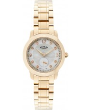 Rotary LB02702-41 Ladies uurwerken Cambridge rose goud verguld horloge