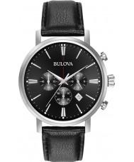 Bulova 96B262 Mens Aerojet zilver zwart chronograafhorloge