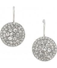 Fossil JF00134040 Ladies vintage glitter zilveren stalen oorbellen
