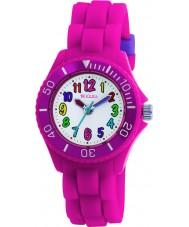Tikkers TK0011 Kids fluorescerend roze horloge