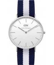 Daniel Wellington DW00100047 Dames klassieke Glasgow 36mm zilveren horloge