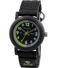 Tikkers TK0114 Jongens zwarte nylon band horloge