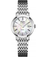 Rotary LB90153-07 Ladies les originales Windsor witte parel zilveren toon horloge