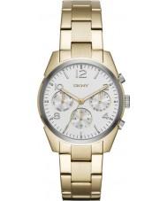 DKNY NY2471 Ladies crosby gouden chronograaf horloge