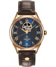 Roamer 550661-49-42-05 Mens swiss matic bruine lederen band horloge