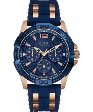 Guess W0366G4 Mens oase two tone siliconen band horloge