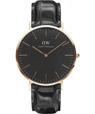 Daniel Wellington DW00100129 Klassiek zwart lezen 40mm horloge