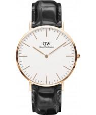 Daniel Wellington DW00100014 Heren Classic lezen 40mm zwart lederen band horloge