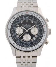 Krug-Baumen 600303DSA Mens air traveler diamond automatisch horloge