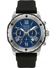 Bulova 98B258 Mens marine ster zwarte chronograaf