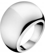 Calvin Klein KJ3QMR000107 Ladies ellips zilveren ring - size n.5