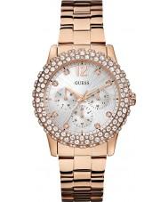 Guess W0335L3 Ladies dazzler rose goud vergulde armband horloge