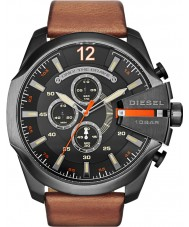 Diesel DZ4343 Mens mega chief black tan chronograafhorloge