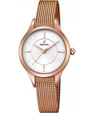 Festina F16960-1 Ladies Mademoiselle rose goud vergulde armband horloge