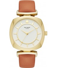 Kate Spade New York KSW1225 Ladies tv geval licht bruin lederen band horloge
