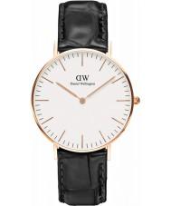 Daniel Wellington DW00100041 Dames klassieke lezing 36mm zwart lederen band horloge