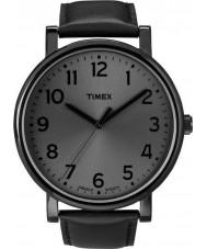Timex T2N346 Alle zwarte klassieke ronde horloge