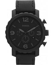 Fossil JR1354 Mens nate chronograaf zwart horloge