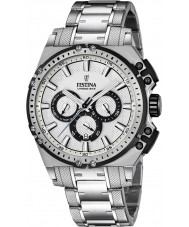 Festina F16968-1 Mens chrono bike zilver staal chronograafhorloge