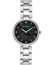 Bulova 96S173 Ladies diamanten zilveren stalen armband horloge