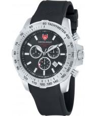 Swiss Eagle SE-9065-01 Mens Herzog zwarte chronograaf horloge