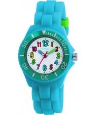 Tikkers TK0012 Kids fluorescerend blauw horloge