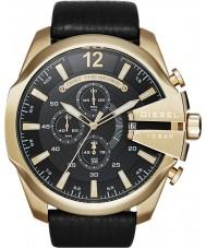 Diesel DZ4344 Mens mega chief gouden zwarte chronograafhorloge