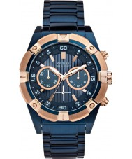 Guess W0377G4 Mens schok blue steel chronograafhorloge