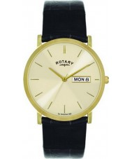 Rotary GS02624-03-DD Mens vergulde champagne horloge