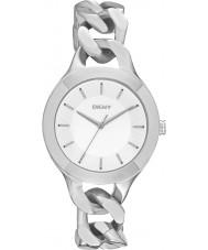 DKNY NY2216 Ladies Chambers zilveren horloge