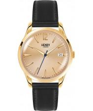 Henry London HL39-S-0006 Westminster mid champagne zwart horloge