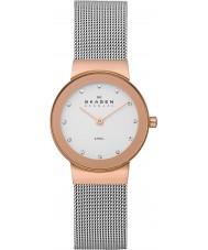 Skagen 358SRSC Ladies klassik rose goud staalnetwerk horloge