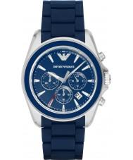 Emporio Armani AR6068 Mens mat blauw chronograaf sporthorloge