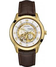 Bulova 97A121 Mens automatische bruin chronograaf
