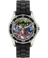 Avengers AVG3529 Marvel jongens horloge met zwarte siliconen band