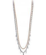 Dyrberg Kern 335158 Ladies cephaila rosegold halsband met tegenhangers