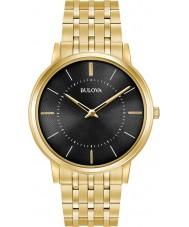 Bulova 97A127 Mens ultraslanke vergulde armband horloge